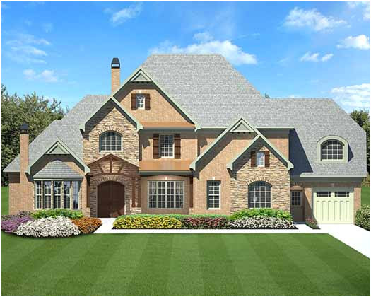 english country style house plans 4222 square foot home 2 story 4 bedroom and 4 bath 3 garage stalls by monster house plans plan24 139