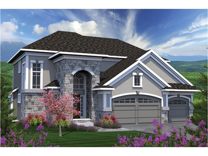 european house plans two story