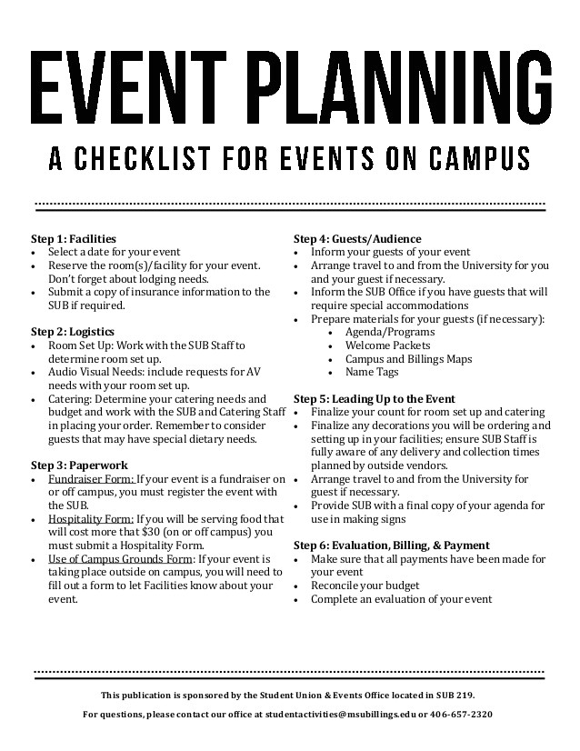event planning check list 42768439