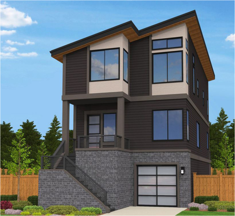 exciting contemporary house plan 85078ms