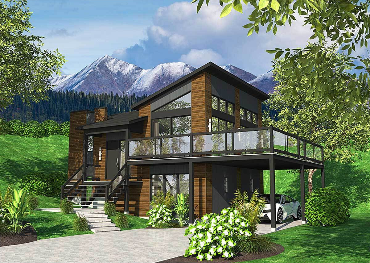exciting contemporary house plan 90277pd