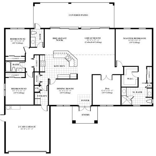 free single family home floor plans