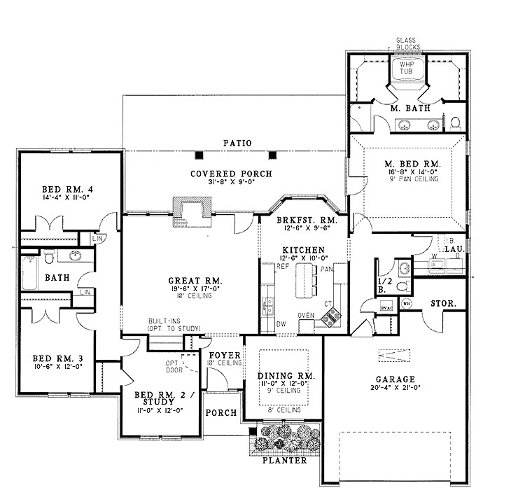 modern family house floor plan