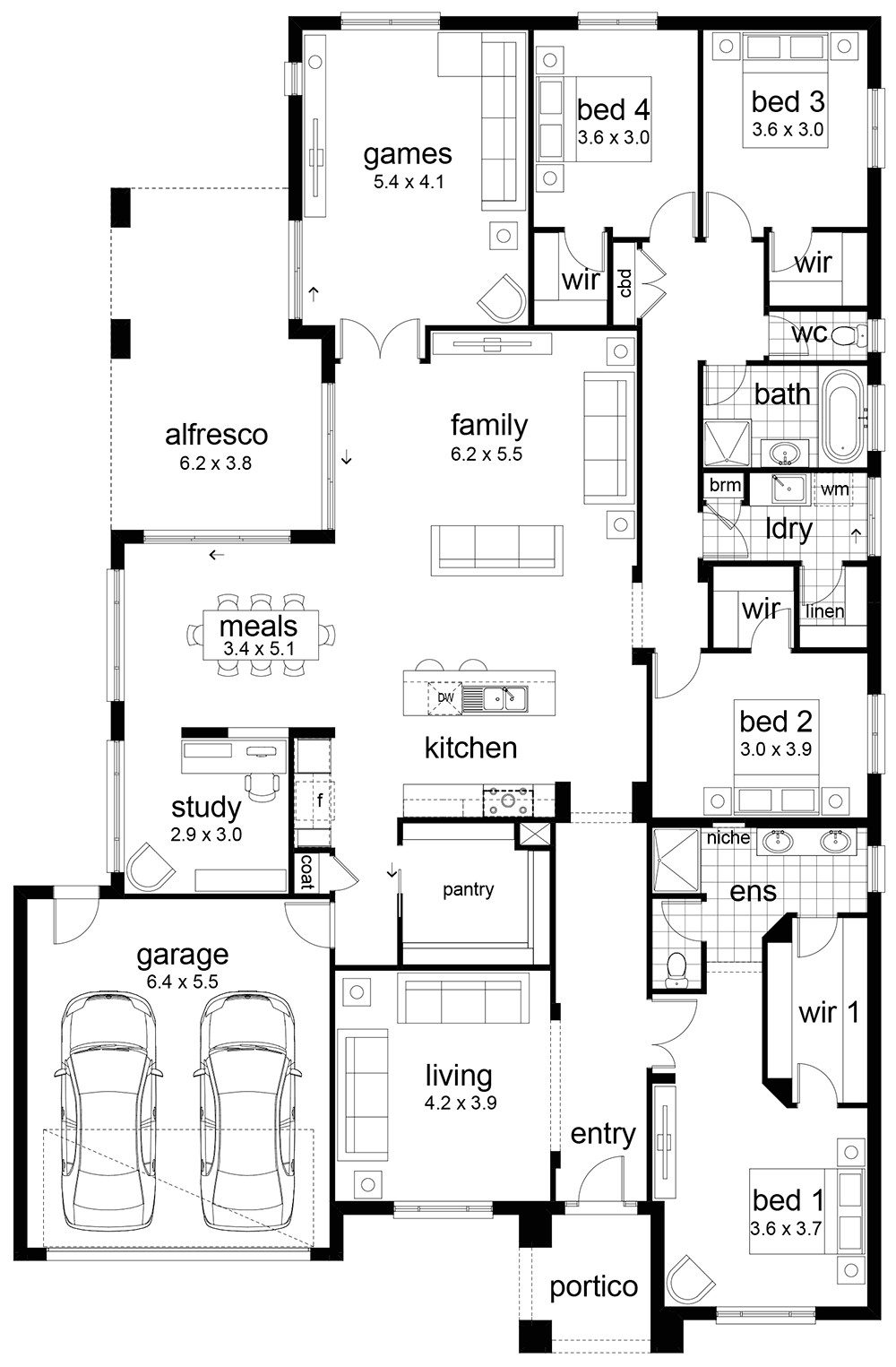 floor plan friday 4 bedroom family home