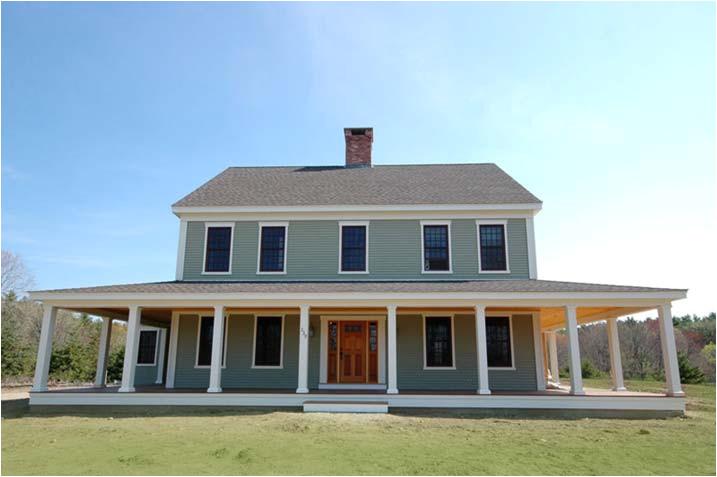 new england farmhouse w wrap around porch hq plans pics