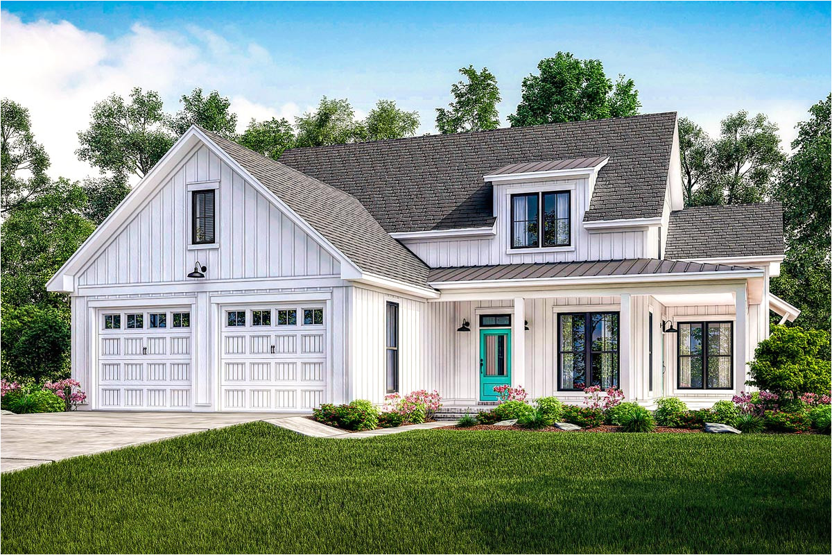 exclusive modern farmhouse plan with flexible upstairs 51765hz