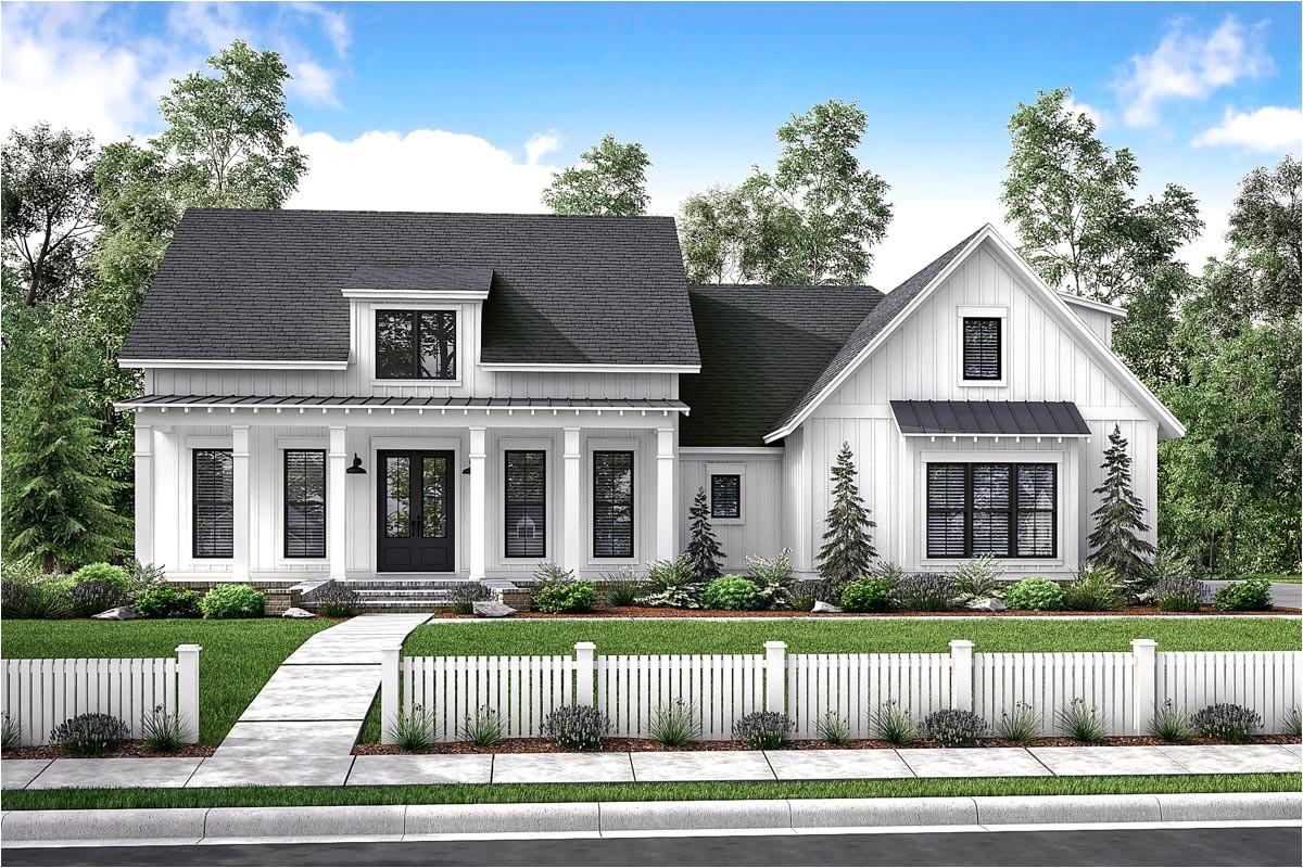 mid size exclusive modern farmhouse plan 51766hz