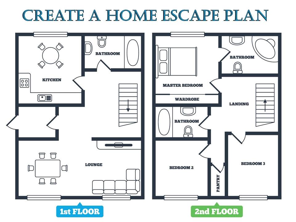 Fire Escape Plans for Home Fire Escape Plan Emc Security