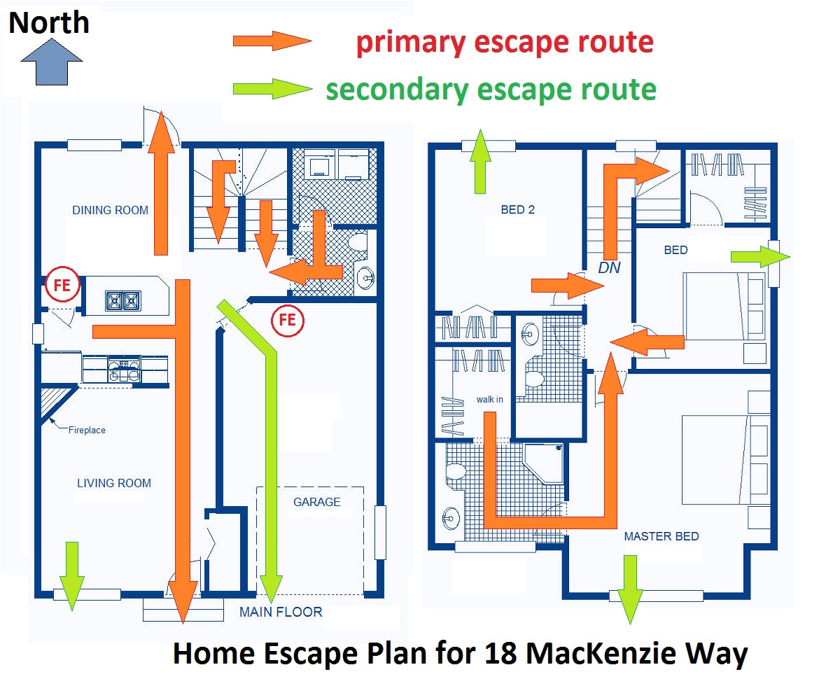fire evacuation plan for home