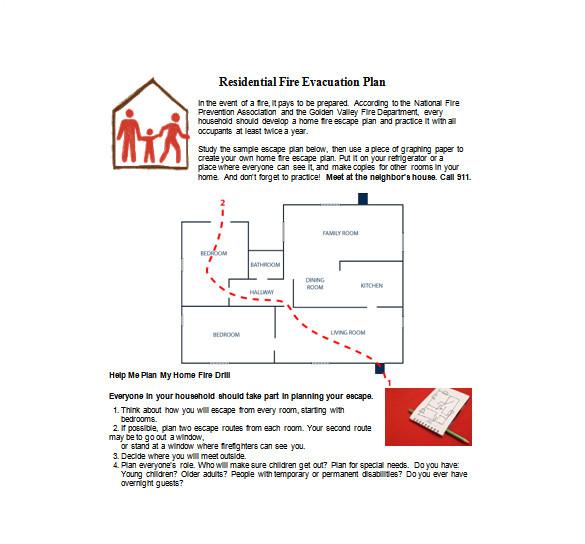 sample evacuation plan