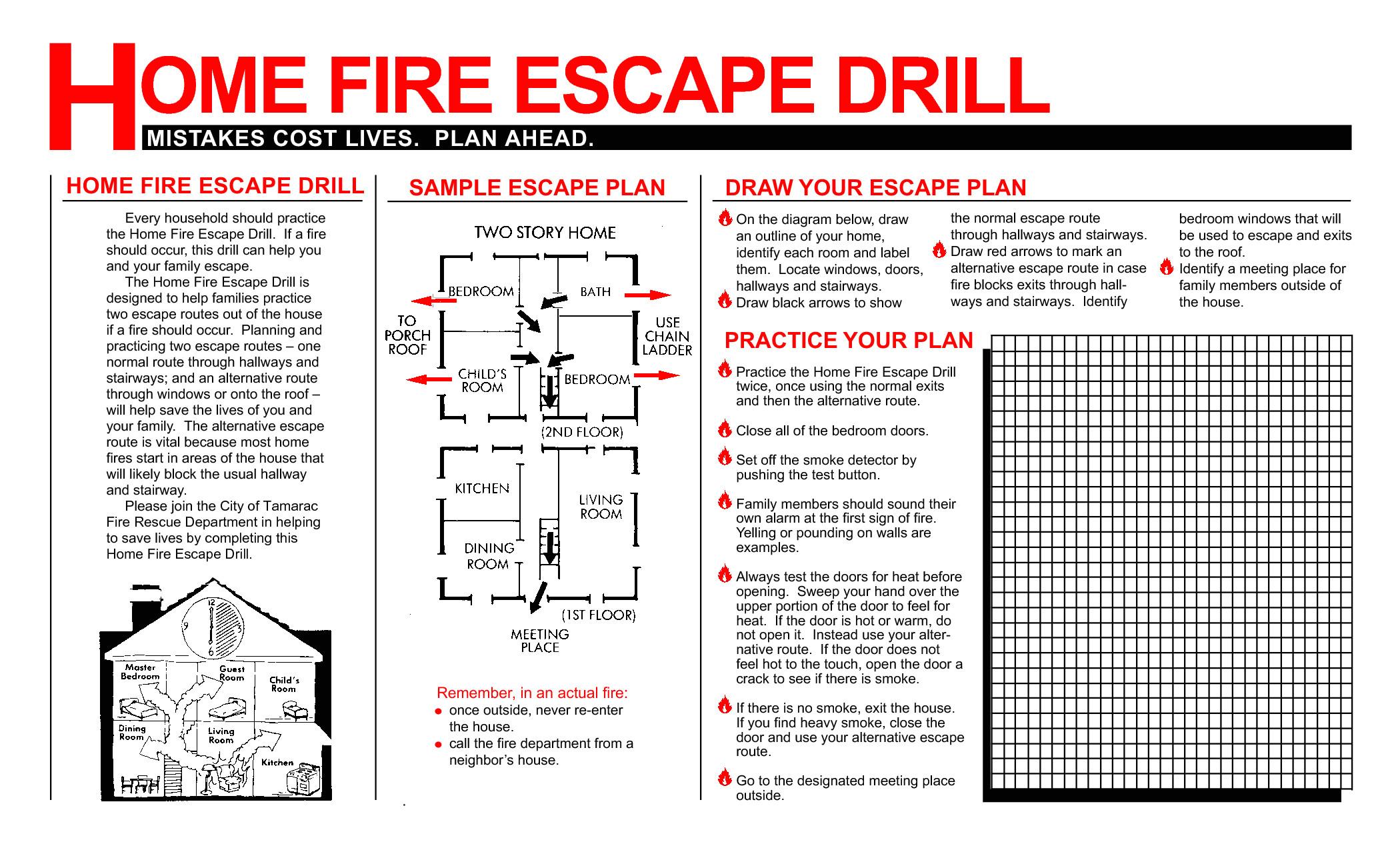 post fire drill plan template 295139