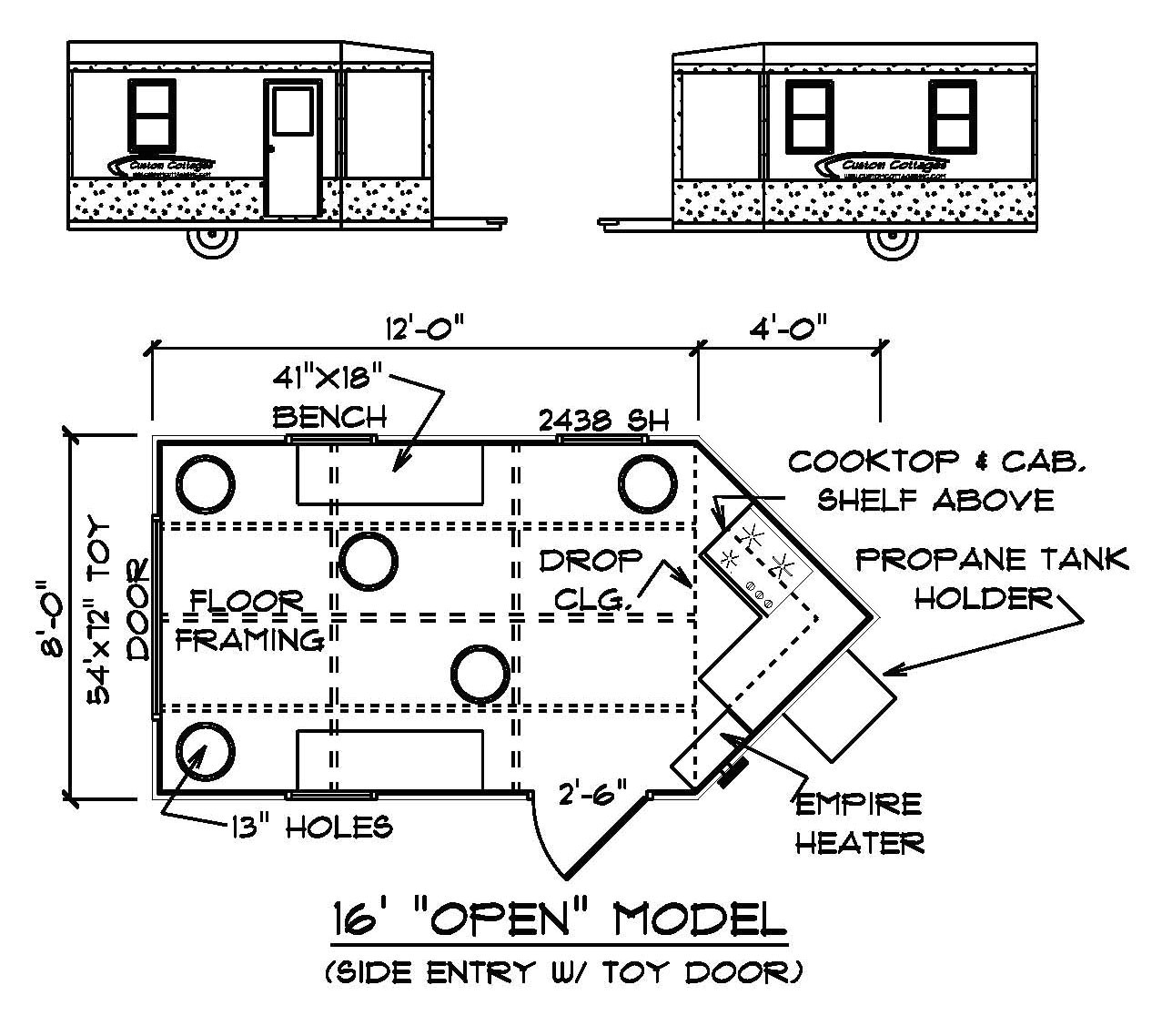 ice house frame plans