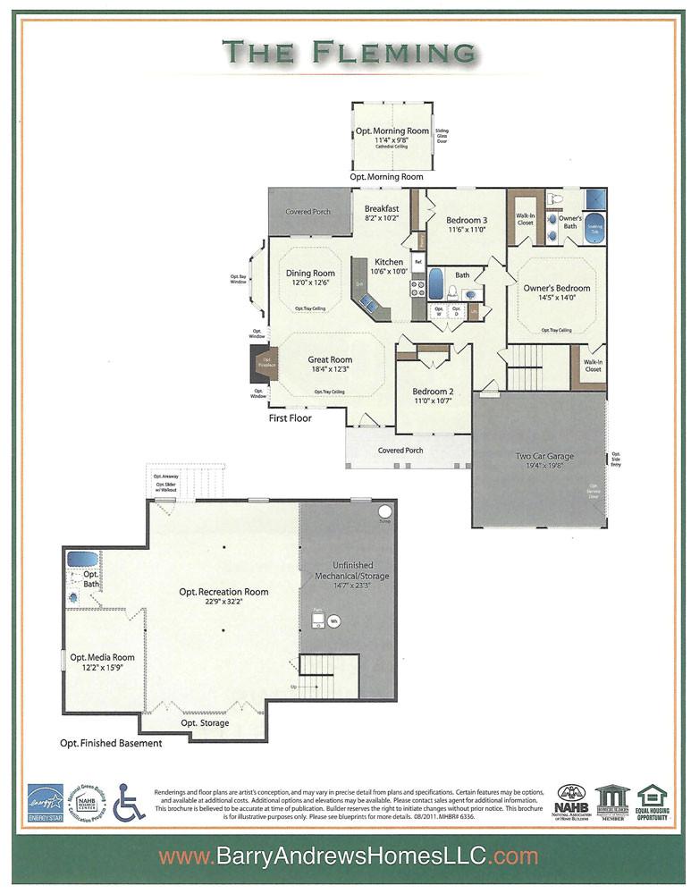 Fleming Homes Floor Plans Flemming Barry andrews Homes
