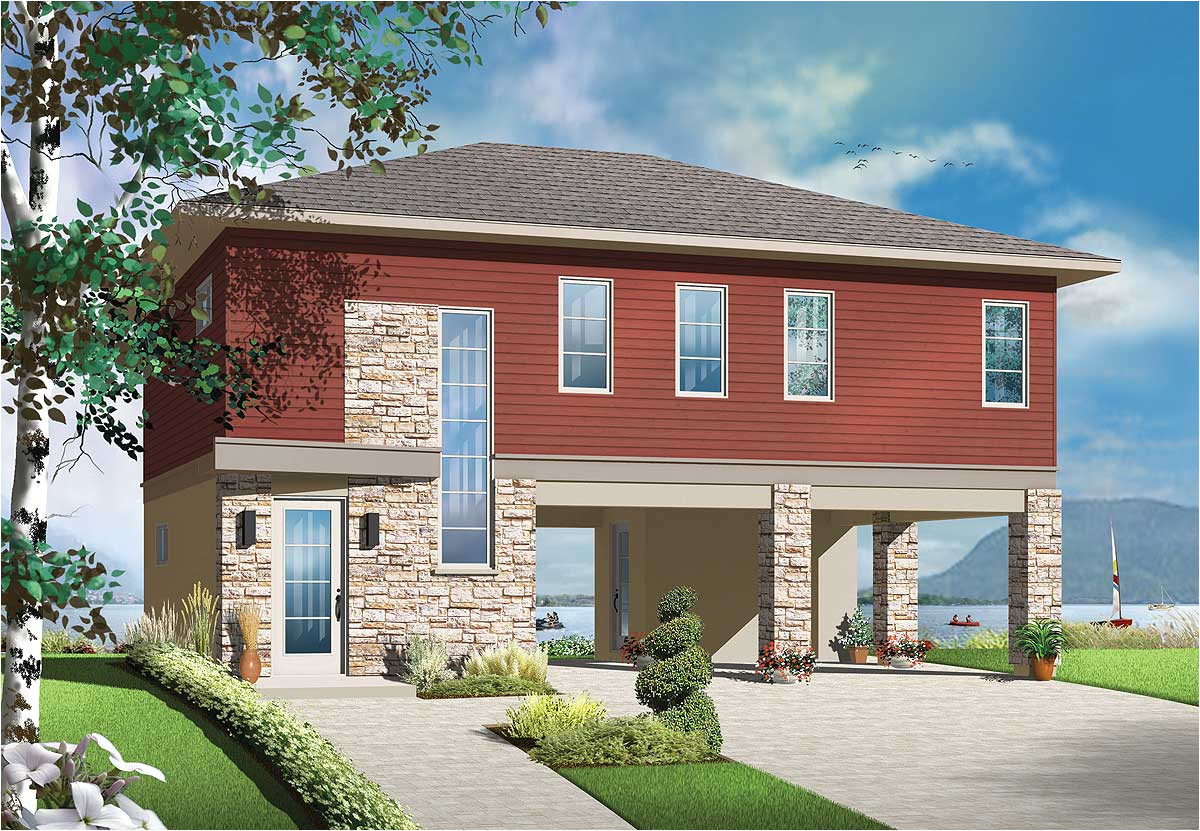 no worries flood zone house plan 22340dr