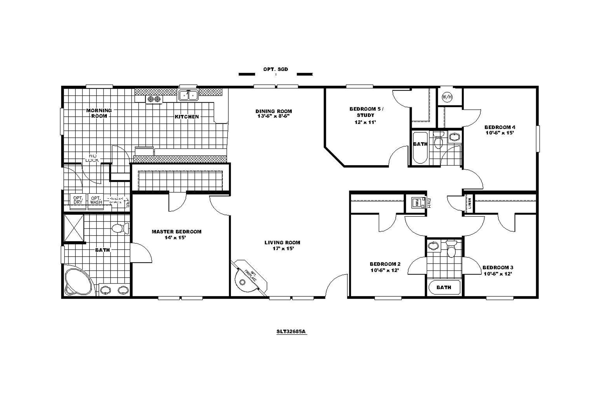 Floor Plan Homes Manufactured Home Floor Plan Clayton Sedona Limited 221675