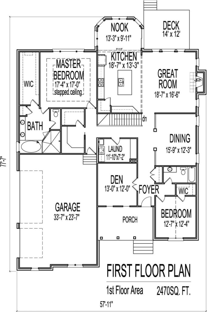 one story ranch house plans with basement
