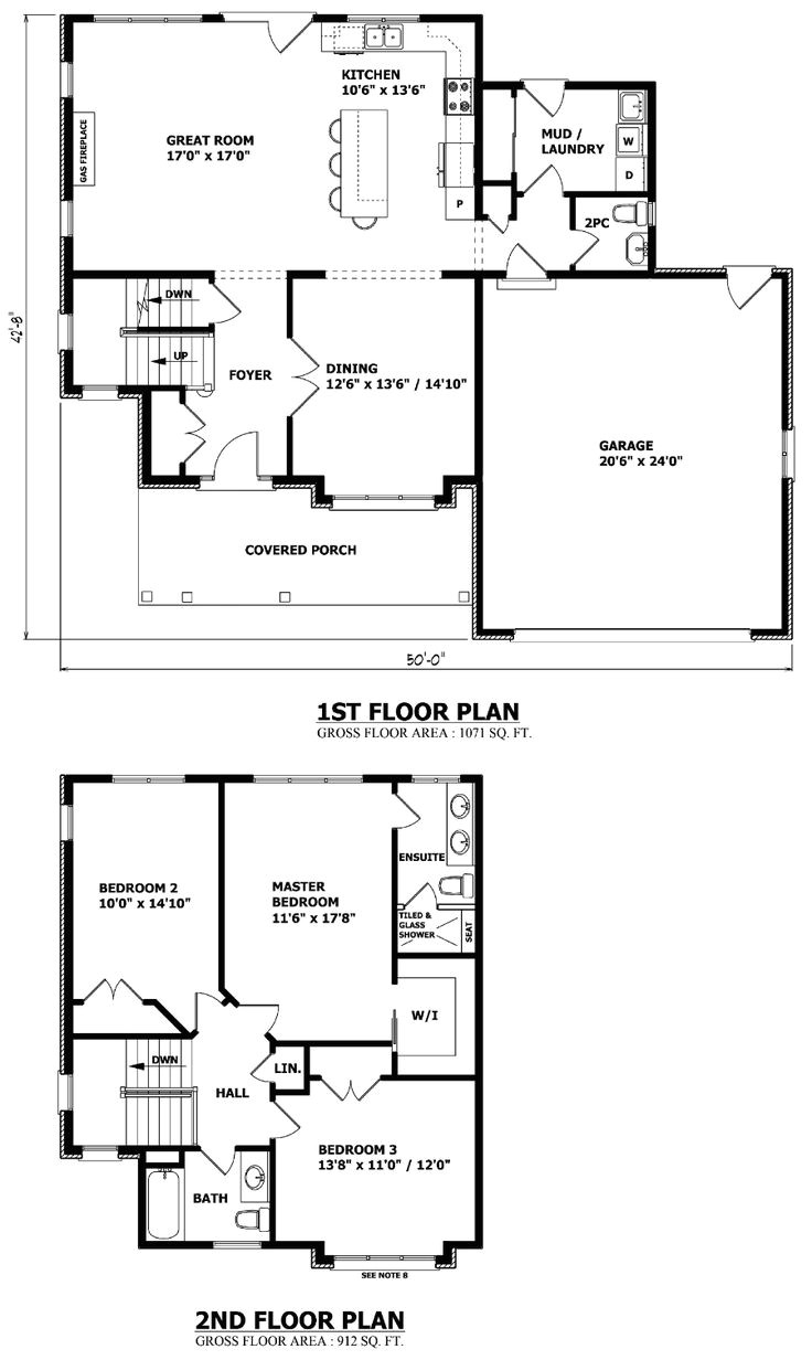 two story house plans with dimensions