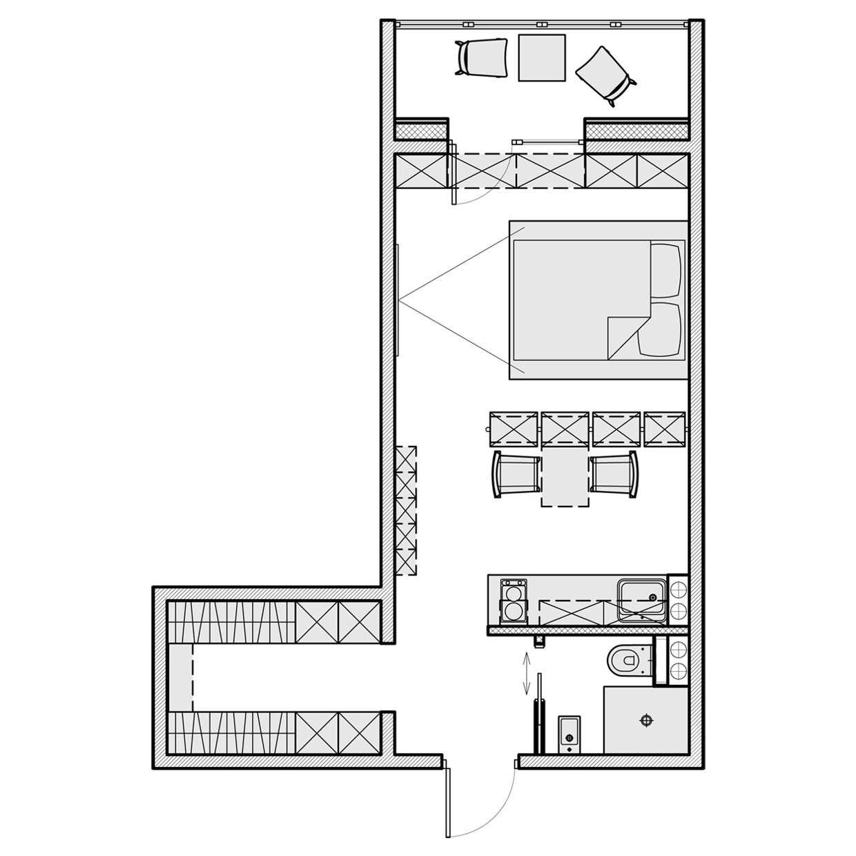 Floor Plans for Homes Under00 Square Feet 3 Beautiful Homes Under 500 Square Feet