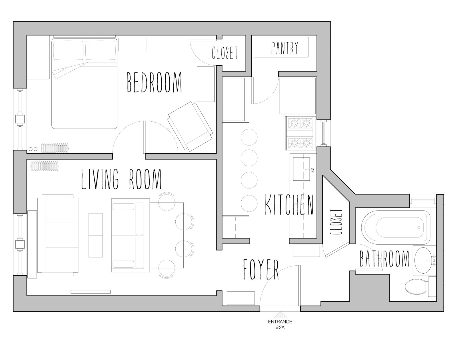 small house floor plans under 500 sq ft