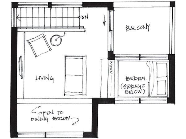 cabin plans under 500 sq ft