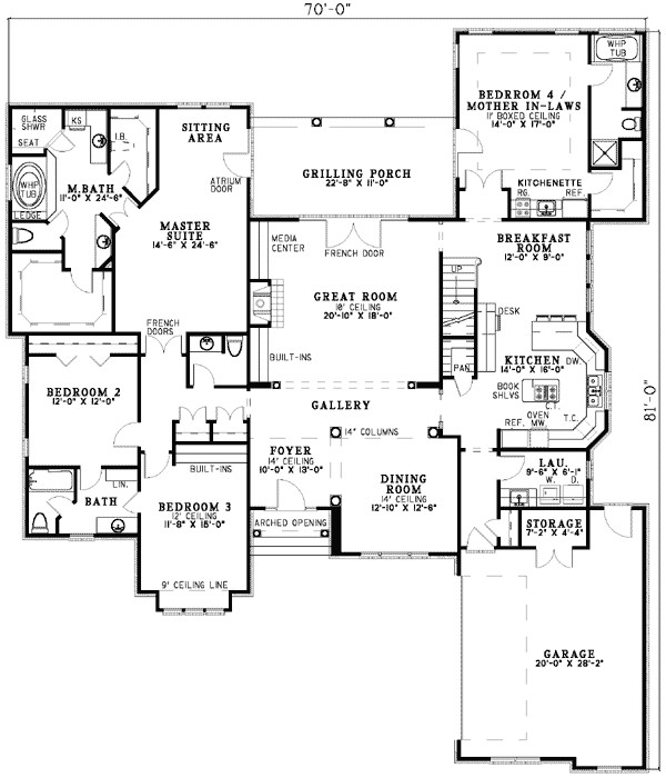house plans with mother in law suites plan w5906nd spacious design with mother in law suite