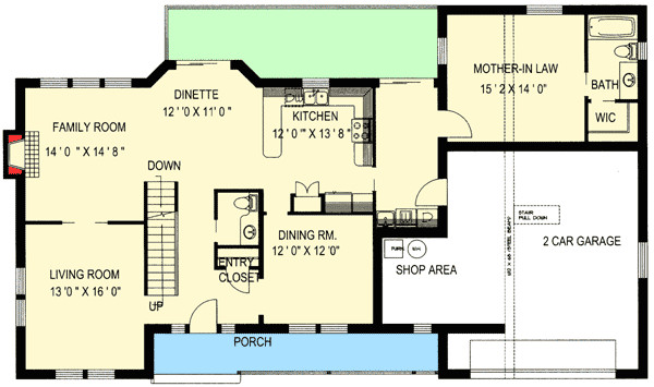 traditional home with mother in law suite 35428gh