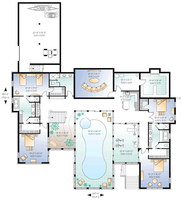 Floor Plans for Homes with Pools Beautiful Home Plans with Pool 6 House Plans with Indoor