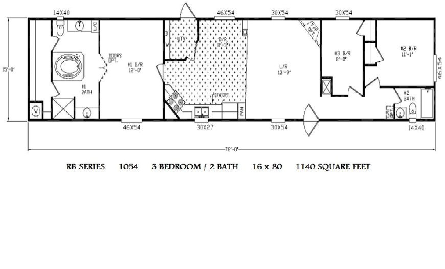 single wide trailer home floor plans