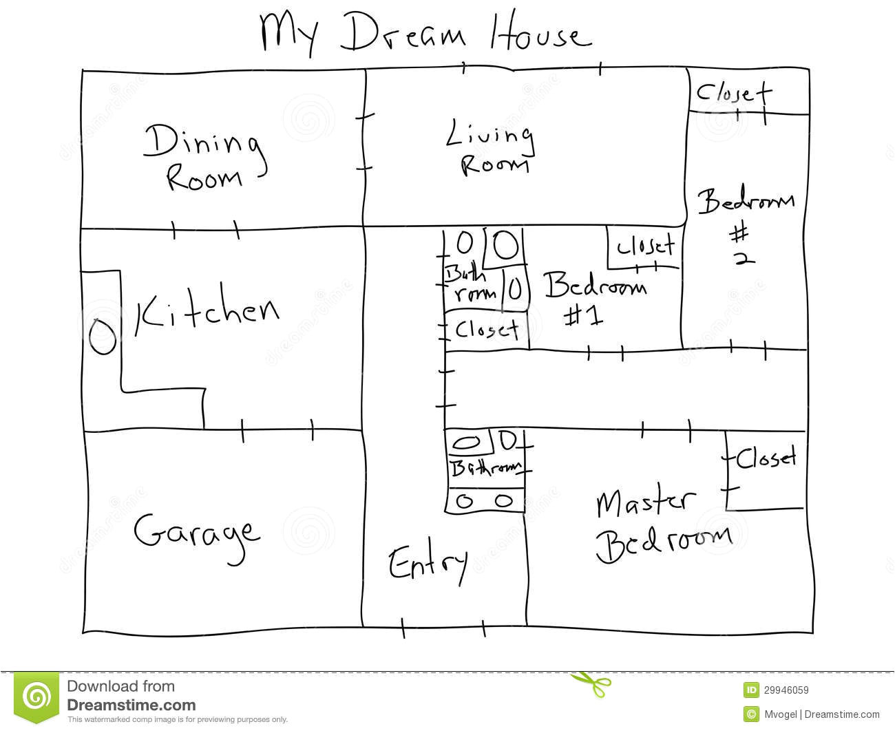 royalty free stock images image hand drawn house plan image29946059