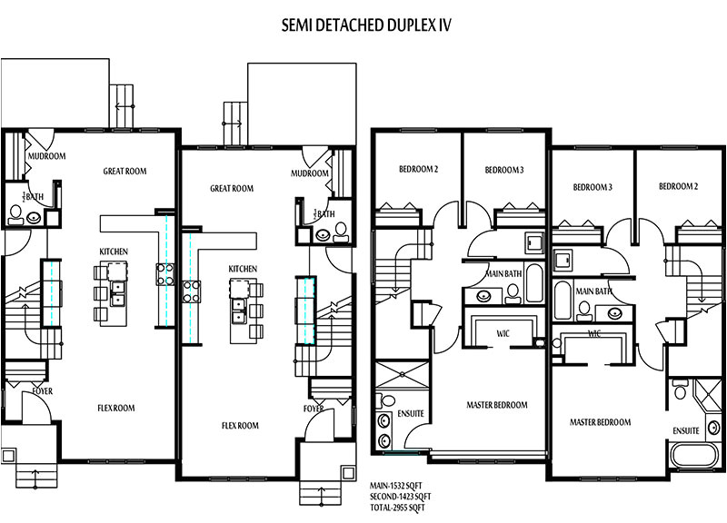 edmonton duplexes or semi detached homes blueprints 14b8b5baa3159285