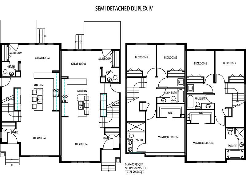 edmonton duplexes or semi detached homes blueprints 14b8b5baa3159285