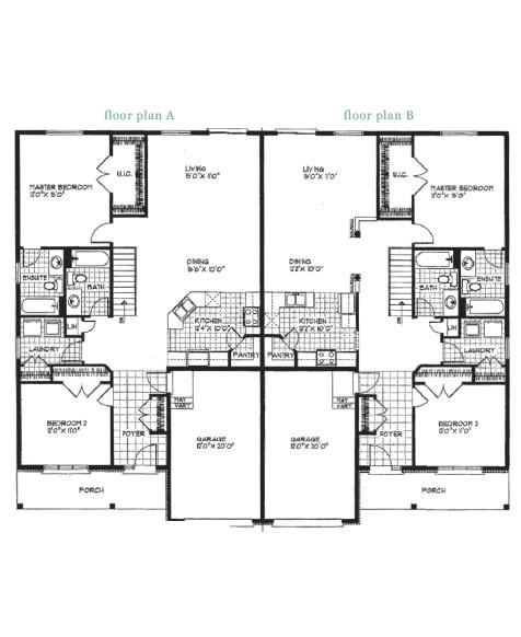Floor Plans for Semi Detached Houses Modern Semi Detached House Plans