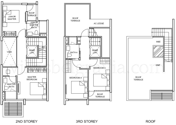 semi detached house layout plan