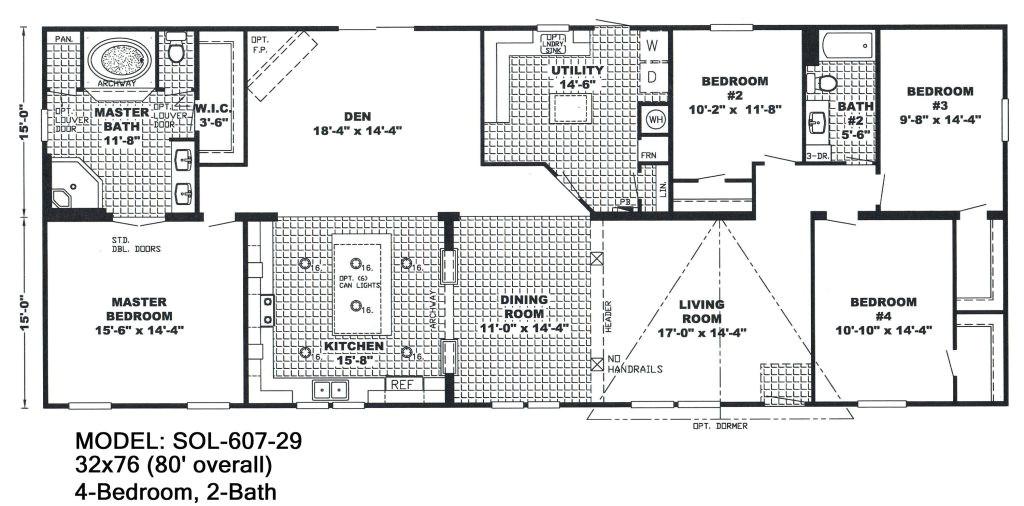 4 bedroom double wide mobile home floor plans unique mobile homes double wide floor plans 4 bedroom 3 bath single home