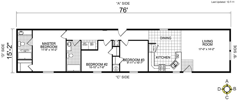 single wide mobile home floor plans 29665