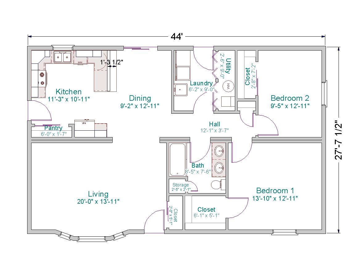 Floor Plans for Small Ranch Homes Small Ranch House Plans Smalltowndjs Com