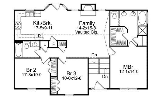 cozy split level house plan 2298sl