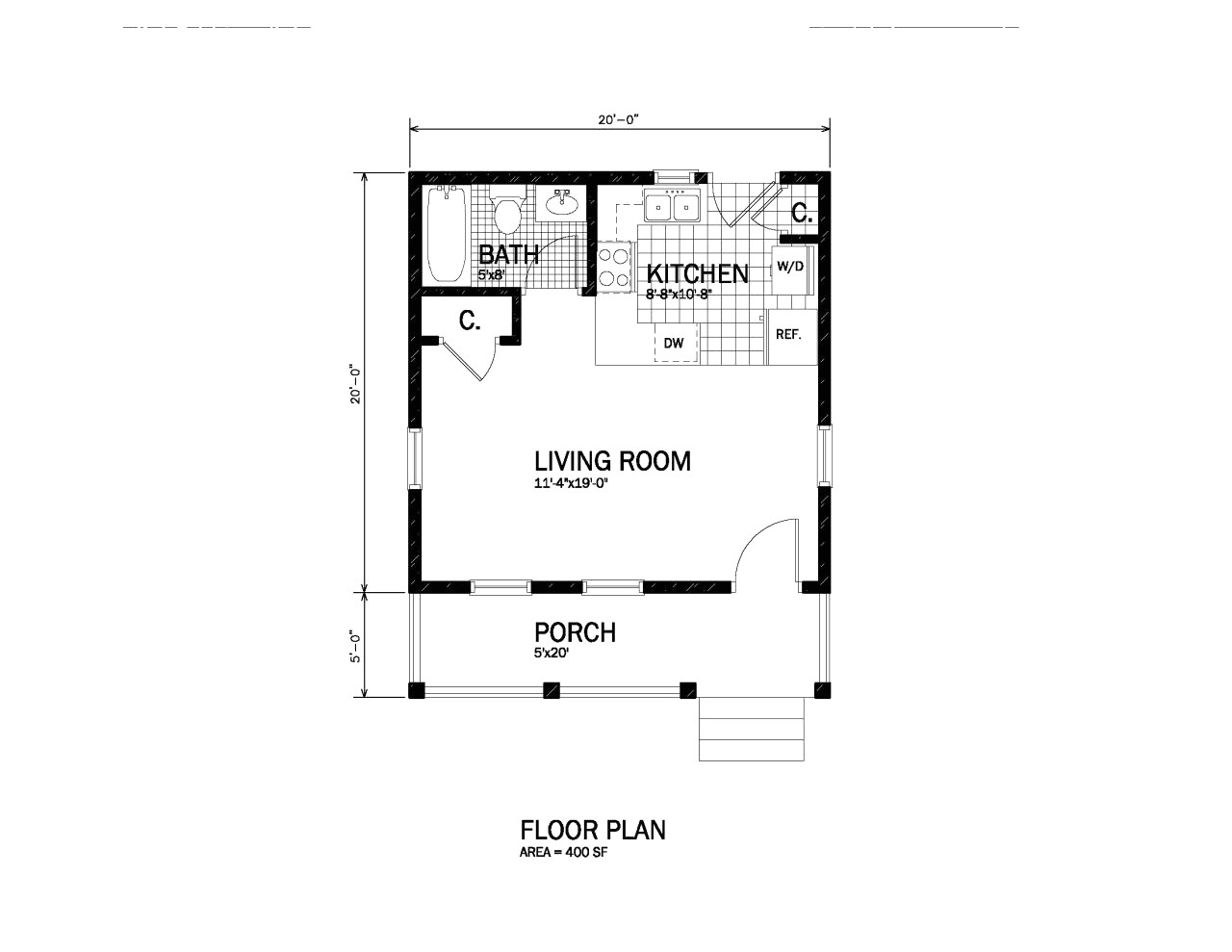 300 square foot cabin plans