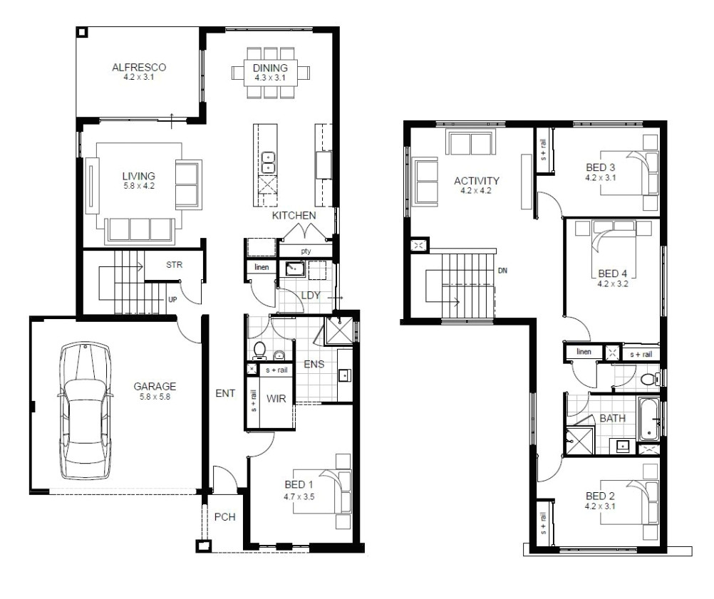 luxury sample floor plans 2 story home