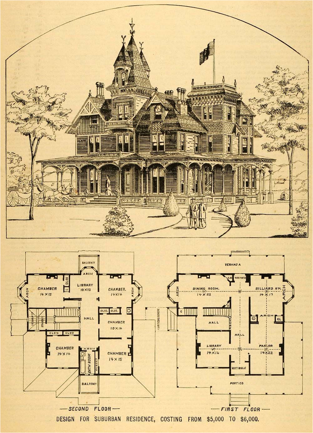 Floor Plans for Victorian Style Homes 1879 Print Victorian House Architectural Design Floor