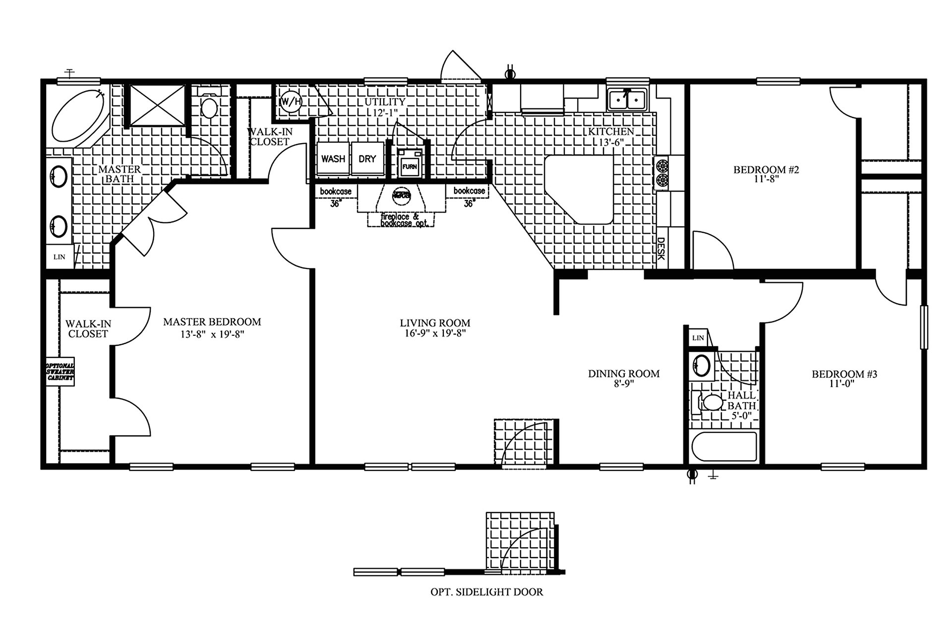sunshine double wide mobile home floor plans