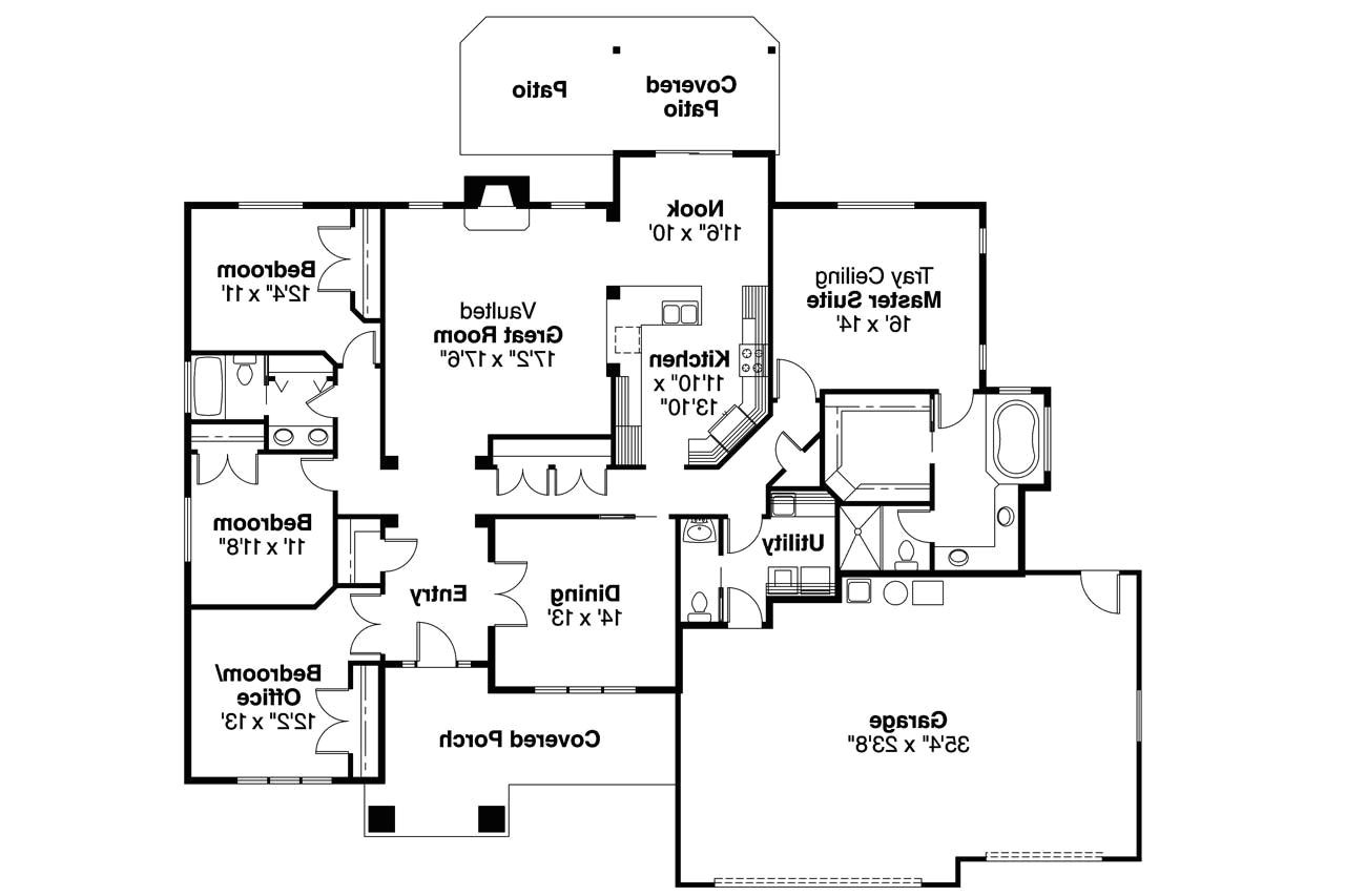 Floor Plans Of Homes Craftsman House Plans Goldendale 30 540 associated Designs