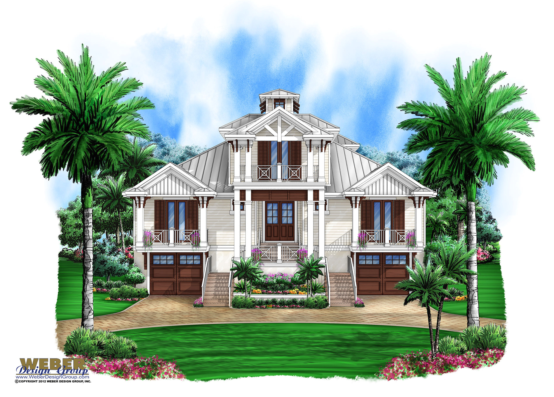 Florida Home Plans with Pictures Marsh Harbour Olde Florida House Plan Weber Design Group