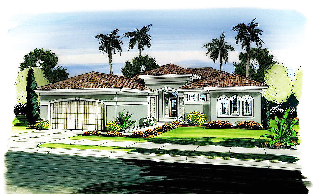 Florida Home Plans with Pictures One Story Florida House Plan 62596dj Architectural