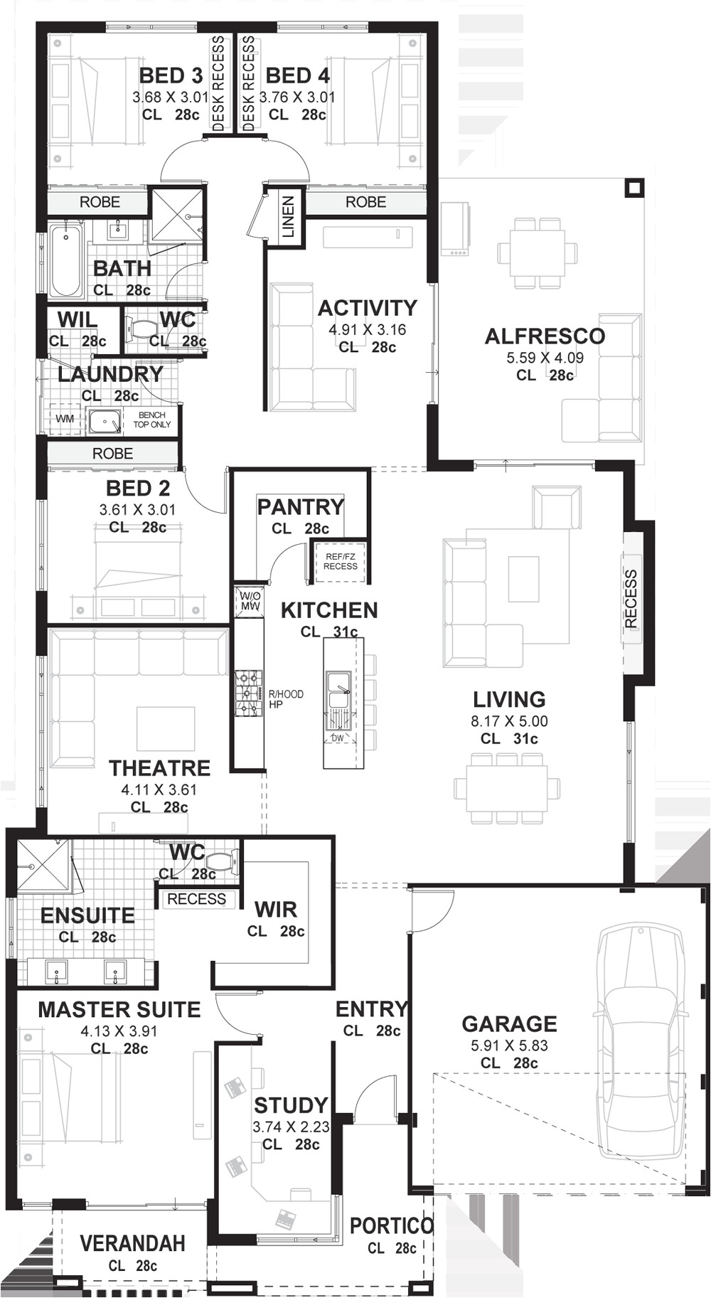 4 bedroom house plans designs
