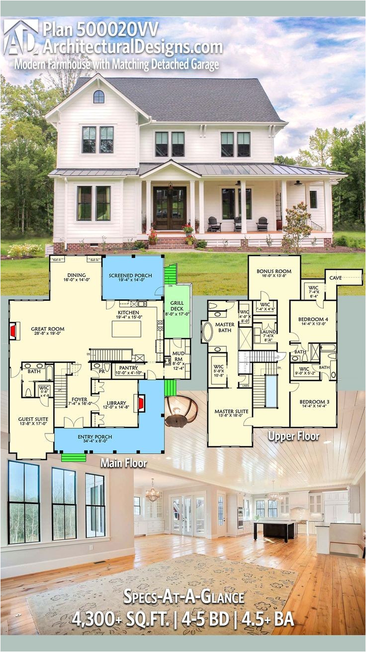 four square house plans with attached garage awesome 1192 best house images on pinterest