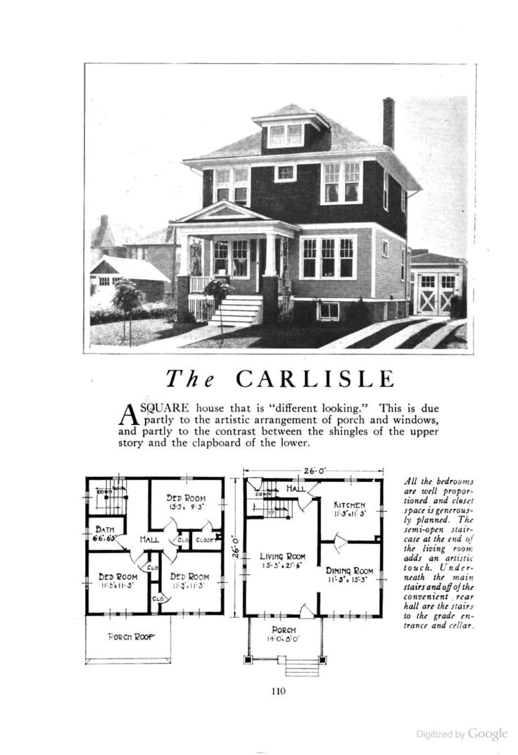 old four square house plans