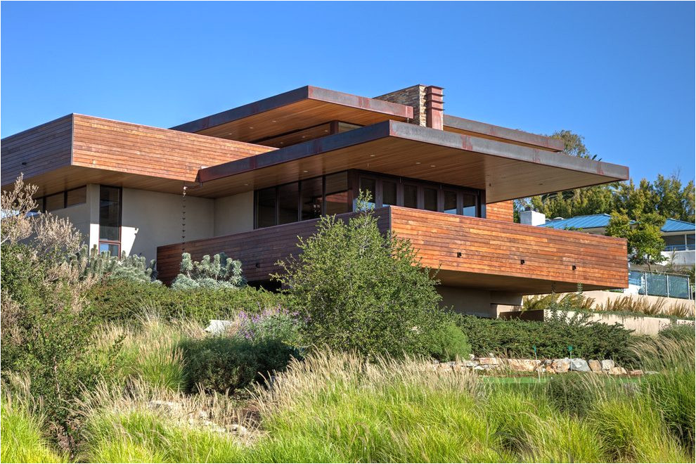 frank lloyd wright inspired house plans exterior asian with falling water bamboo garden fencing