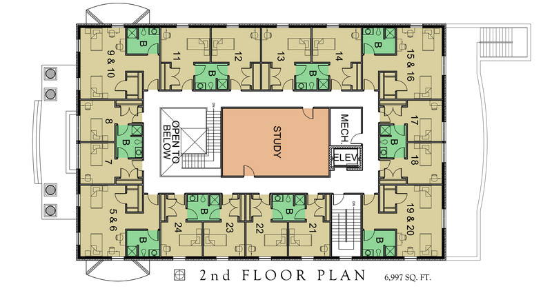 fraternity house floor plans