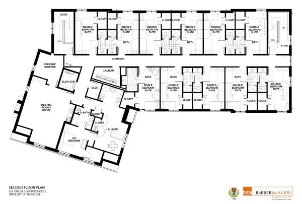 sorority house floor plans